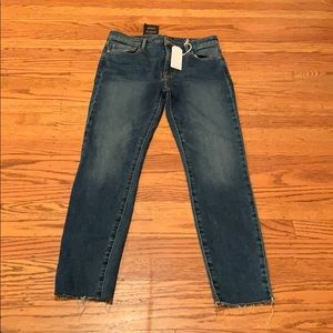 Sanctuary High Rise Skinny Frayed Ankle Size 27